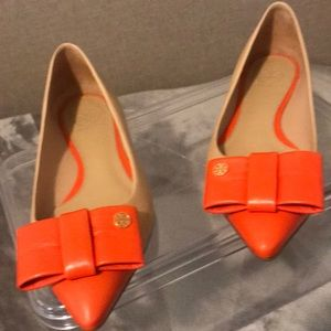 Tory Burch shoes( tan and orange)